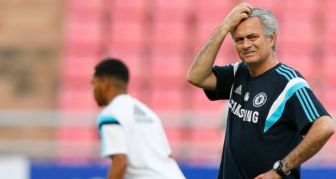 According to reports, Mourinho was caught on a speed camera doing 60mph in a 50mph zone. Photograph: EPA/RUNGROJ YONGRIT