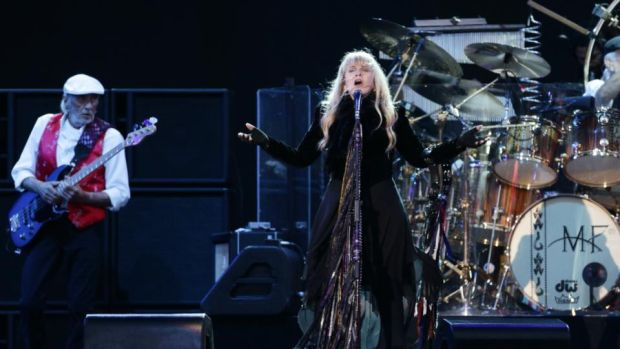 Fleetwood Mac performing on the Main Stage at the Isle of Wight Festival in June. Photograph: Yui Mok/PA