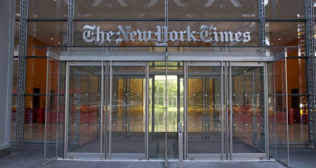 Facade of the New York Times headquarters building on 8th Avenue in Midtown Manhattan. Photograph: Thinkstock/Getty Images