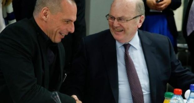 Former Greek finance minister Yanis Varoufakis (left) said Ireland had rejected the policies of Fine Gael Minister for Finance.