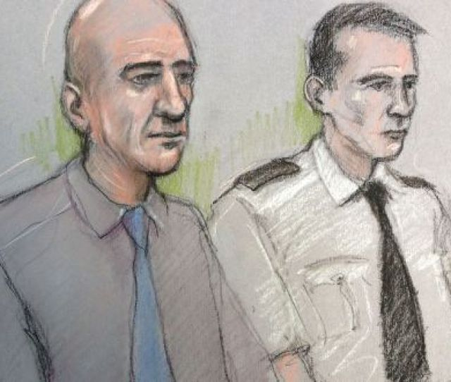 Court Artist Sketch Stephen Port Left Appearing At The Old Bailey London
