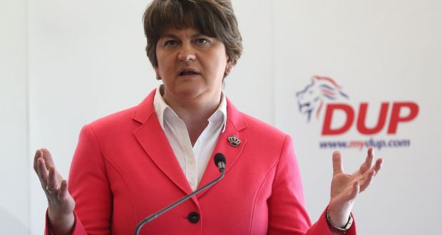Arlene Foster told the BBC in February she did not even know how much the mystery donor had given the party.  Photograph: Niall Carson/PA Wire