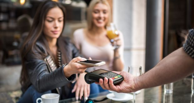 Debit-card point-of-sale spending in March increased 14 per cent to €2.7 billion on the same month in 2016. Photograph: Getty Images