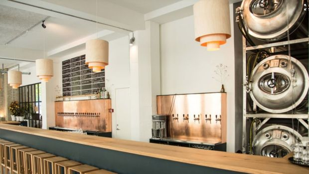 The popular Brus bar has a brewery, a long, smart-looking bar, and an experimental restaurant and a shop.