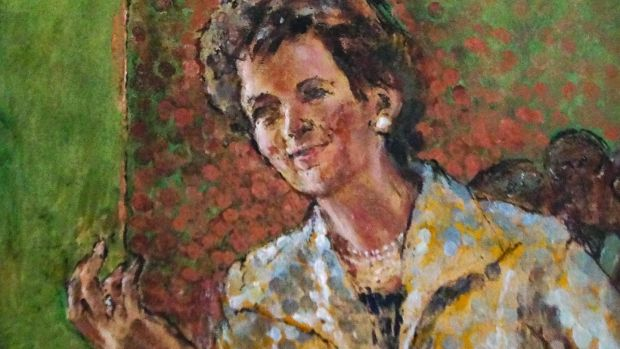 Portrait of Mary Robinson by artist Derek Hill is estimated at €3,000-€5000.