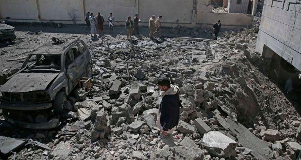 Image result for Saudi Airstrike kills 39 people in Sanaa
