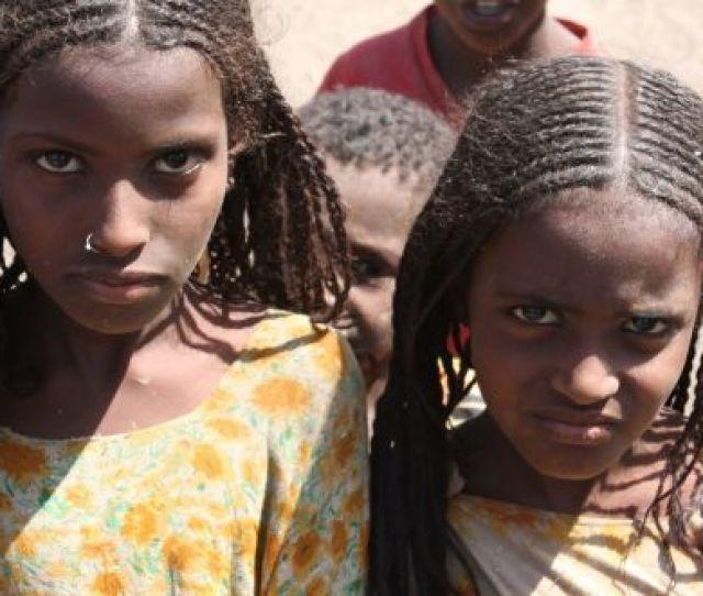 Afar Girls Displaying The Braided Hair Styles Popular Among The Women Photograph James Jeffrey