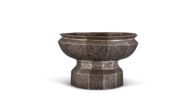 Indian silver bowl found hidden under a table attained €30,000 at Adam's Asian Art auction in 2018