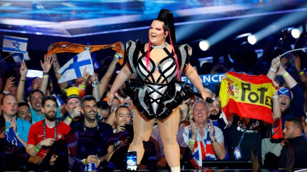 Israel's Netta Barzilai, the winner of last year's Eurovision contest, performs during the opening ceremony of the first semi-final of the 64th edition of the Eurovision Song Contest 2019 at Expo Tel Aviv on May 14, 2019, in the Israeli coastal city. (Photo by Jack GUEZ / AFP)JACK GUEZ/AFP/Getty Images