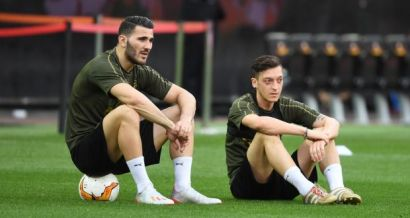 Image result for Mesut Ozil and Sead Kolasinac Images