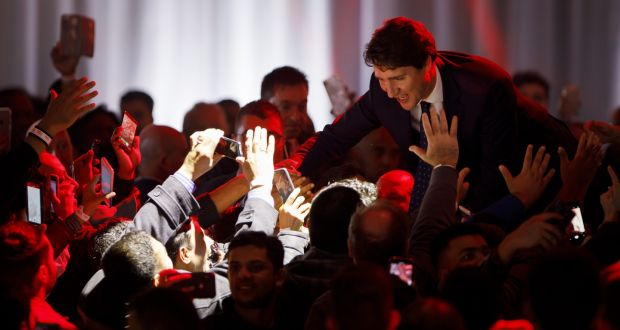 Image result for lIBERAL tRUDEAU HAS wON 2019