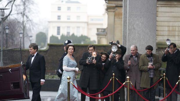 Olivia Colman as Queen Elizabeth in The Crown. Photograph: Netflix