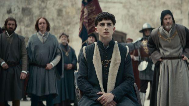 Timothée Chalamet in The King. Photograph: Netflix
