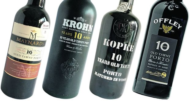 Maynard's, Krohn, Kopke and Offley; 10-year-old tawny ports