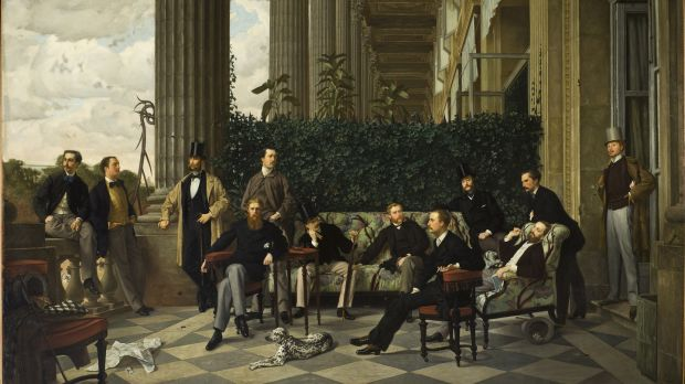 The Circle of rue Royale, 1868, Musée d'Orsay