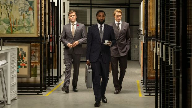 Tenet: Jack Cutmore-Scott, John David Washington and Robert Pattinson in Christopher Nolan's new film