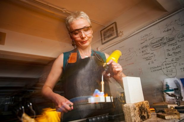Alex Thiel Didu: the jeweller in her Benchspace workshop, in Cork. Photograph: Daragh Mc Sweeney/Provision
