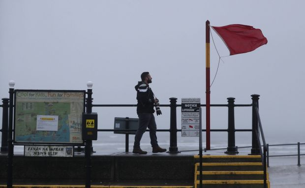 Blustery conditions at Tramore beach, Co Waterford. Photograph: Niall Carson/PA Wire