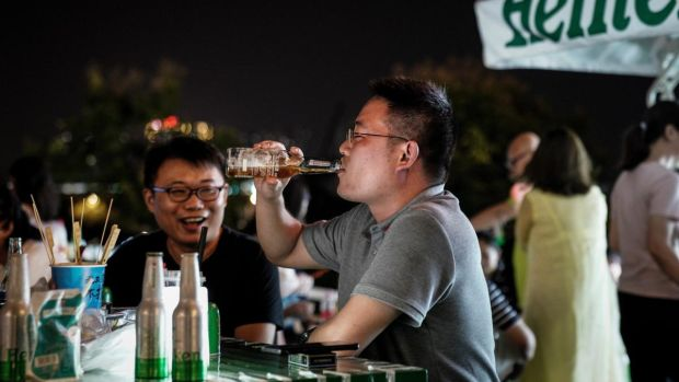 Wuhan is holding a week-long beer festival this week. Photograph: Getty Images
