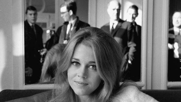 Jane Fonda in January 1965 at the Savoy Hotel, in London. Photograph: Kaye/ Express/ Getty Images