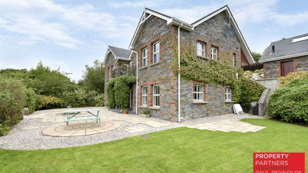 The balcony to the rear of the large four-bedroom house at Cornagill offers views of Lough Swilly.