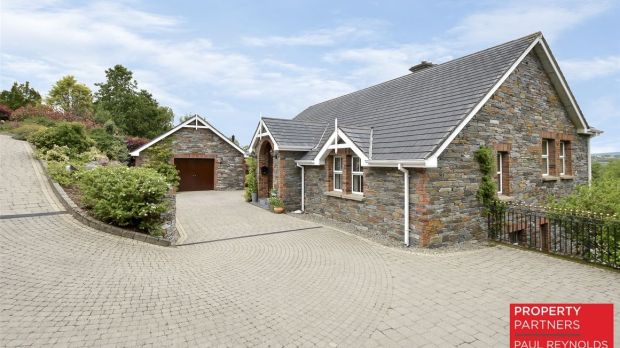 Guiding at €550,000, this four-bedroom house at Cornagill is split-level and extends to 221sq m (2,379sq ft).