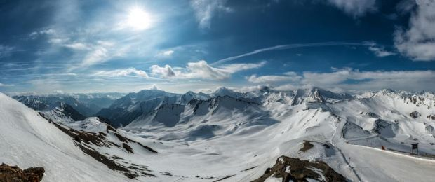 A mountain panorama in Ischgl.