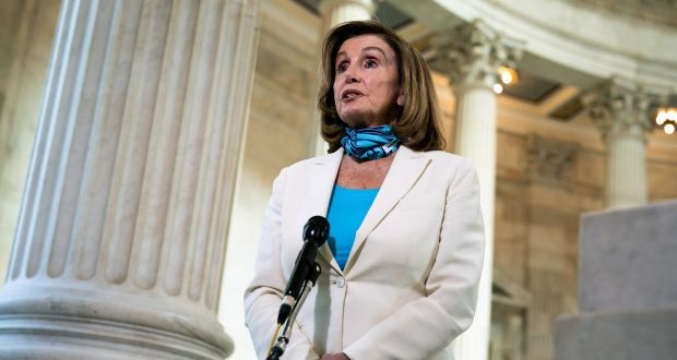 'Whatever form it takes, Brexit cannot be allowed to imperil the Good Friday Agreement,' house speaker Nancy Pelosi said. Photograph: Anna Moneymaker/The New York Times