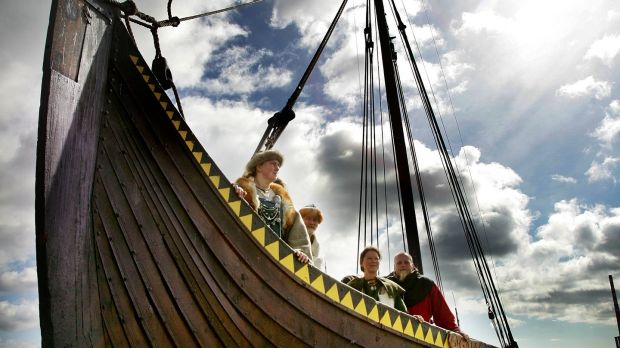 'Gaia' a full scale replica Viking Ship of the Gokstad ship which brought King Amlaph (Olav), ancestor of the Norse Kings of Dublin, to Dublin in 853. File Photograph: Alan Betson