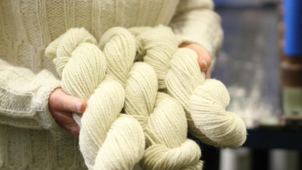 The new 100 per cent organically grown Irish wool from farmer Fergal Byrne's flock and spun by Donegal Yarns for Yarn Vibes. yarnvibes.com/#