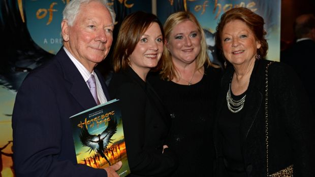 Gay Byrne, Kathleen Watkins and their daughters Suzy and Crona. Photograph: Frank Miller