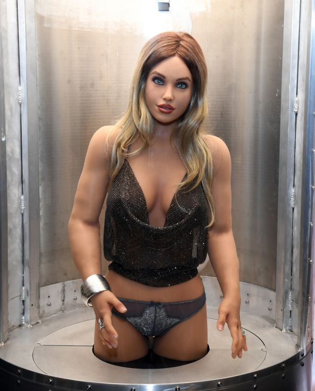 A Harmony RealDoll customizable sex robot. Photograph: Ethan Miller/Getty Images
