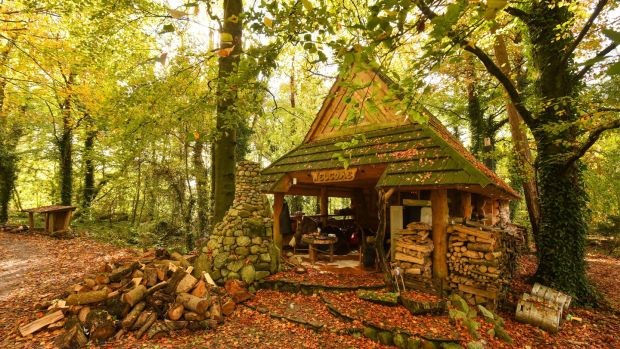 The wood cabin of Derek McCarthy from Irish Hide Designs in Lisnagry, Co Limerick. Photograph: Diarmuid Greene