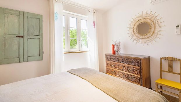 The master bedroom at Keanu Fischell's new home in Crete