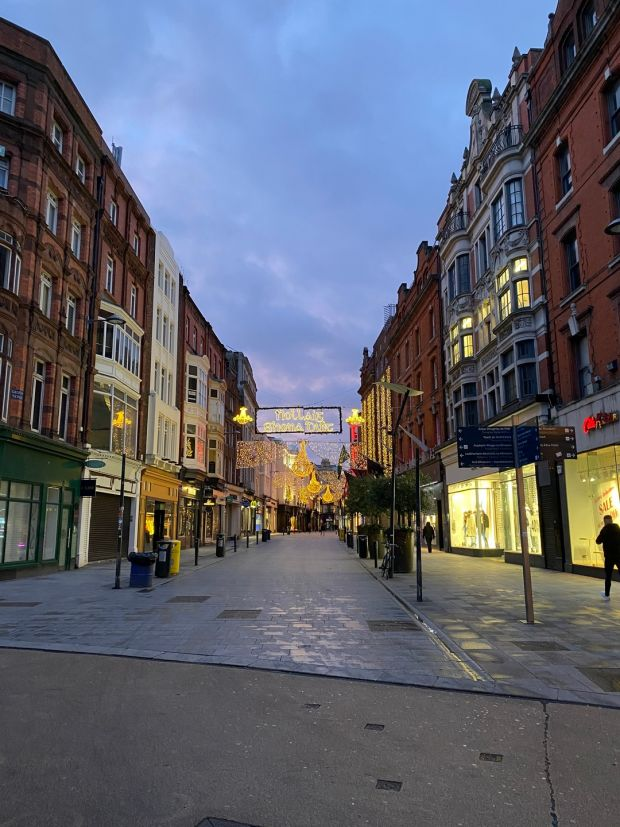A quiet Grafton Street on Saturday moring. Photograph: Conor Pope