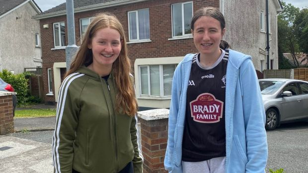 Ella Tobin and friend Jenny Butler: They try to eat five portions of fruit and veg a day helped by a recent greater focus on healthy eating in school.