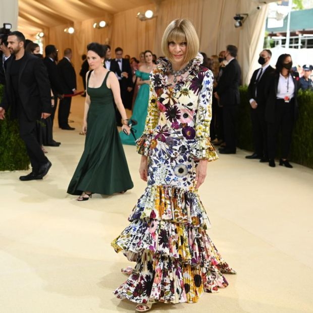 Anna Wintour at the Metropolitan Museum of Art's Costume Institute benefit gala in New York, Sept. 13, 2021. (Nina Westervelt/The New York Times)