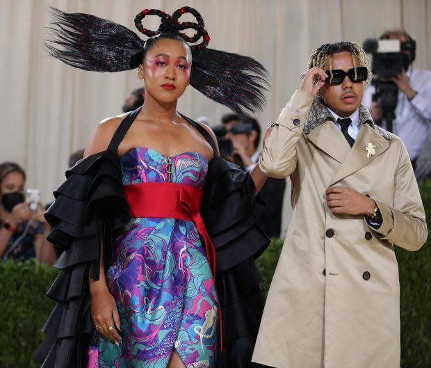 Naomi Osaka at the Metropolitan Museum of Art's Costume Institute benefit gala in New York, Sept. 13, 2021. (Calla Kessler/The New York Times)