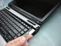 Remove notebook bezel
