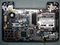 Removing notebook motherboard