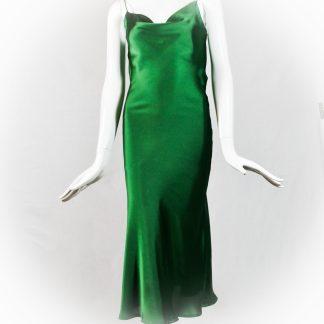 Vestidos satén verde
