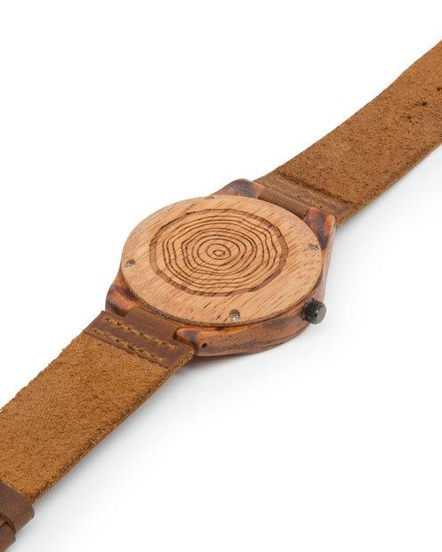reloj de madera natural Levante Iroko pulsera atras