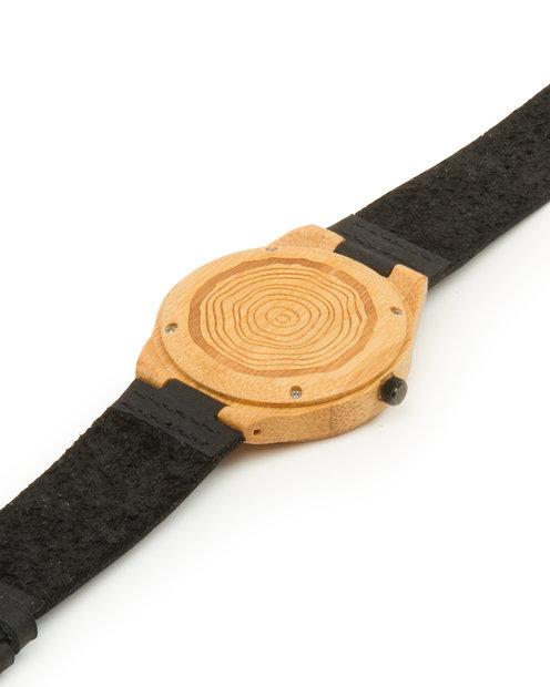 reloj de madera hombre Poniente Iroko atras pulsera