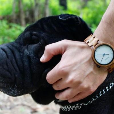 reloj pulsera de madera unisex