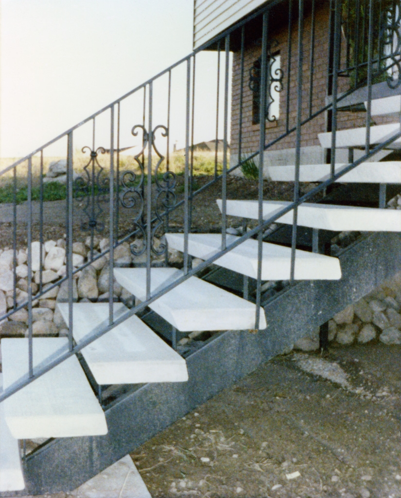 Straight Iron Stairs The Iron Anvil Salt Lake City Utah | Steel And Concrete Stairs | Welding | Smooth | Cantilevered | Industrial | Cement
