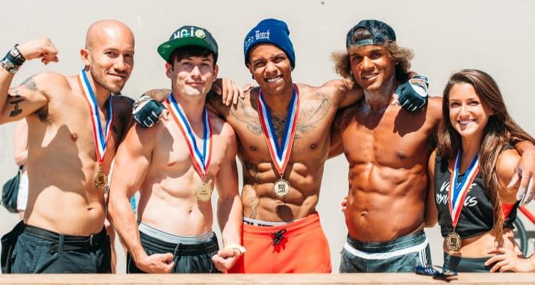 Muscle beach calisthenics