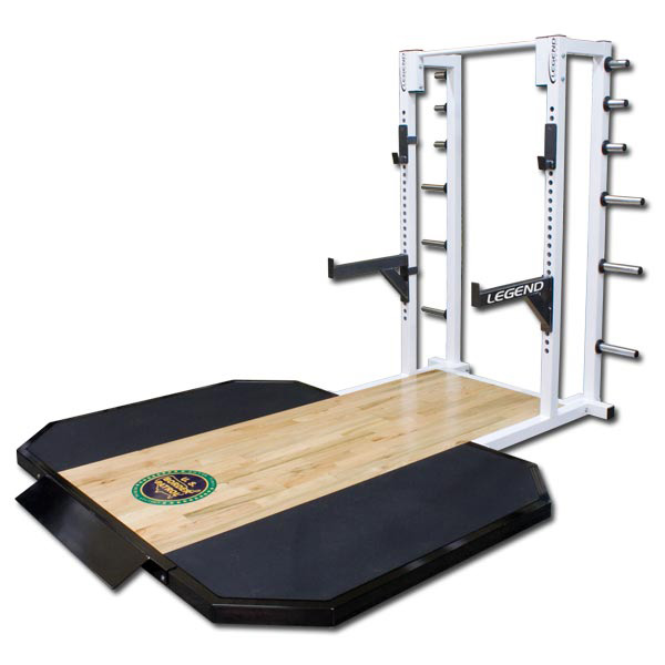 Half Cage With Oak Insert Platform Legend Fitness 3142