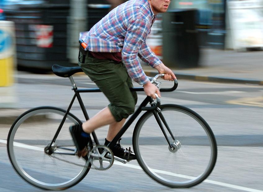 Hipster Loses Non-Prescription Glasses--Still runs into Parked Bus