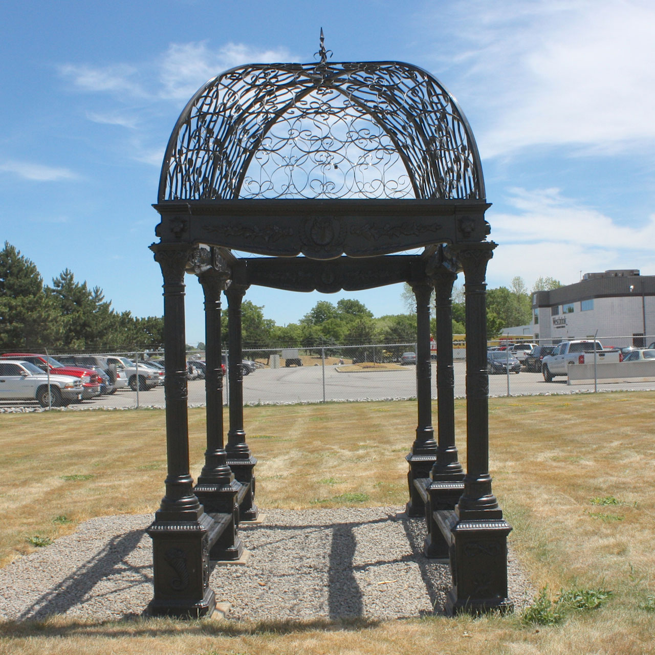 Large Rectangular Iron Gazebo With Dome Top Irongate