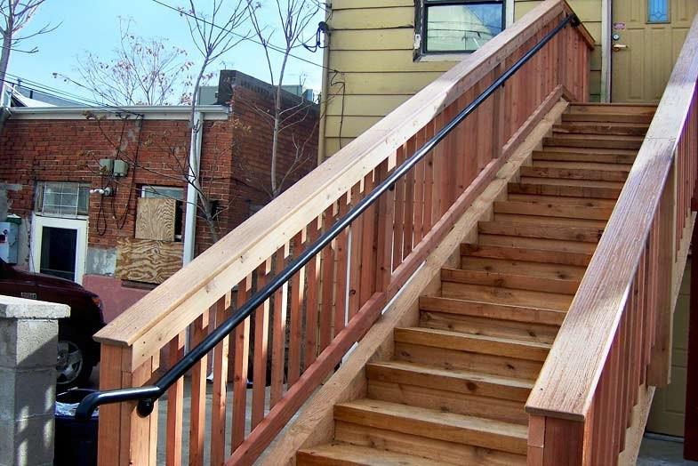 Railing Denver Colorado Deck Patio Stair Railing | Building A Stair Rail | Craftsman Style | White | Horizontal | Glass | Inexpensive